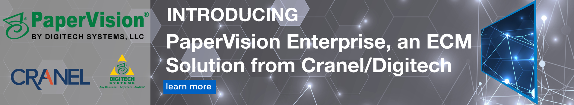 introducing PaperVision Enterprise, an ECM Solution from Cranel-Digitech