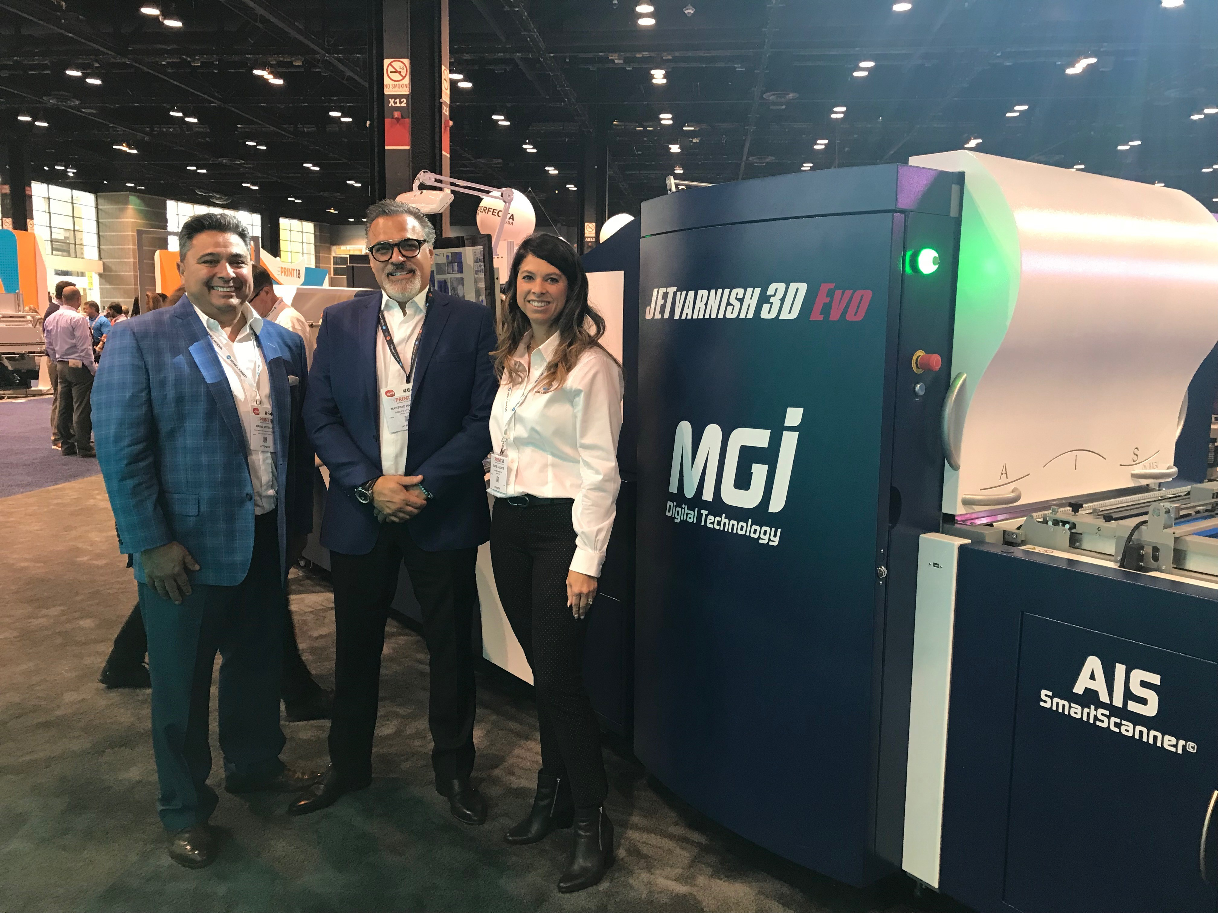Representatives at Print18 in Chicago, Illinois