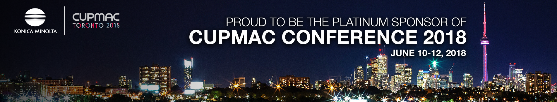 Proud to be the platinum sponsor of CUPMAC Conference 2018. June 10-12, 2018
