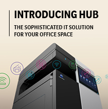 Introducing Hub. The sophisticated solution for your office space