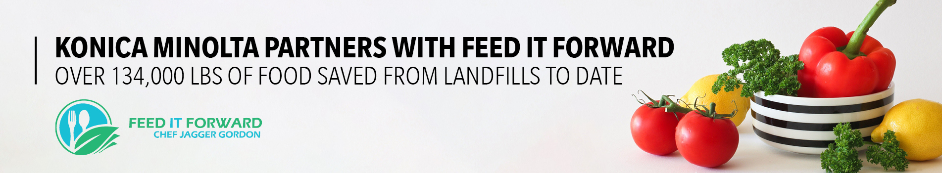 Konica Minolta Partners with Feed it Forward.