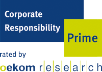 Corporate Responsibility Prime. Rated by oekom research