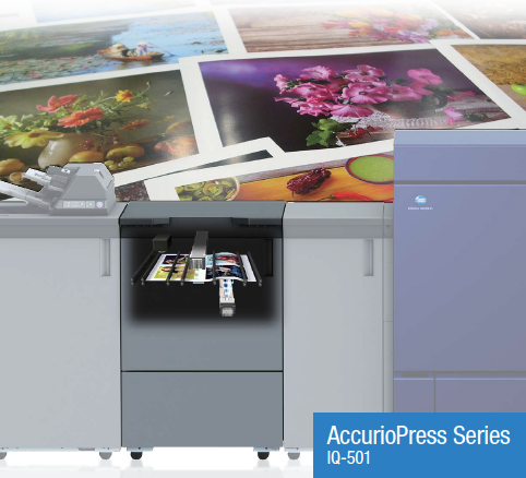 IQ-501 Intelligent Quality Optimizer Print Production Digital Press from Konica Minolta Canada